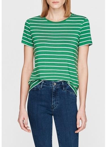 Mavi Çizgili Tişört Yeşil